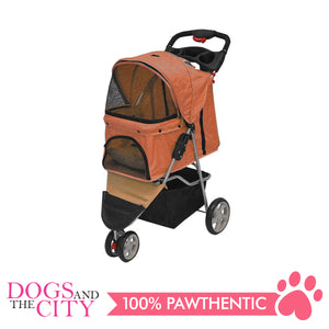 BM SP03 3 Wheel Pet Stroller Orange
