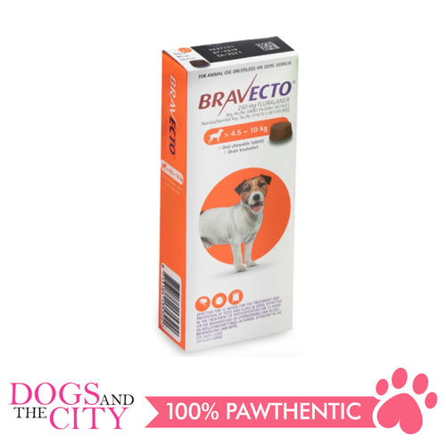 Bravecto Small (4.5-10KG) Anti Tick and Flea Chewable Tablet for Dogs