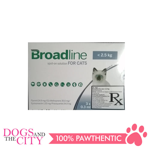 Broadline Spot-On Solution for Cats 0-2.5KG 3'S - Dogs And The City Online
