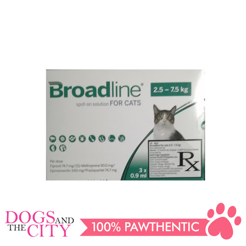 Broadline Spot-On Solution for Cats 2.5-7.5kg, 3's - Dogs And The City Online