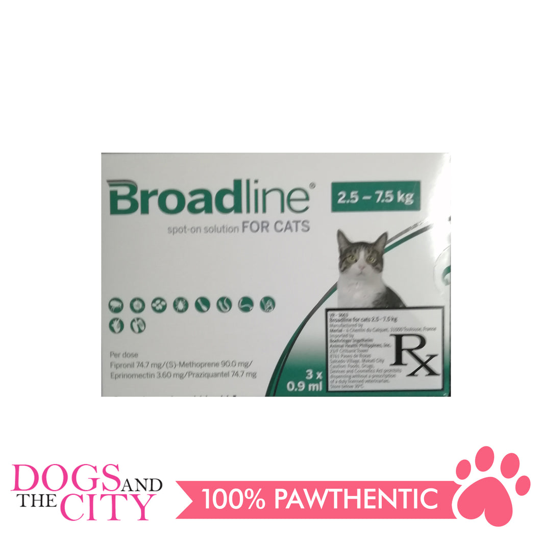 Broadline Spot-On Solution for Cats 2.5-7.5kg, 3's - All Goodies for Your Pet