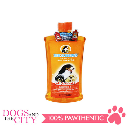 Bearing Tick & Flea Dog Shampoo All Breeds 600ml - All Goodies for Your Pet