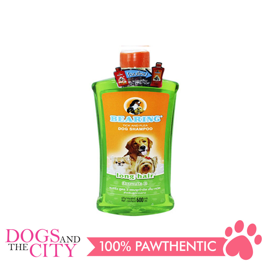 Bearing Tick & Flea Dog Shampoo Long Hair 600ml - All Goodies for Your Pet