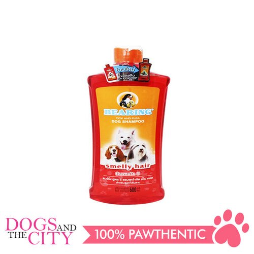 Bearing Tick & Flea Dog Shampoo Smelly Hair 600ml - All Goodies for Your Pet