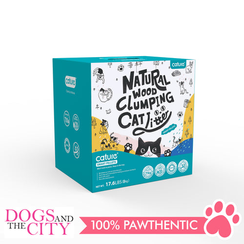 Cature Natural Wood Clumping Cat Litter Smart Pellet 20L - Dogs And The City Online