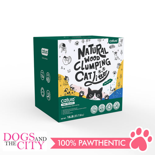 Cature Natural Wood Clumping Cat Litter Tiny Pellets 20L - Dogs And The City Online