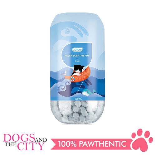 Cature Deodorizer Fresh Scent Beads Ocean 450 ml - All Goodies for Your Pet