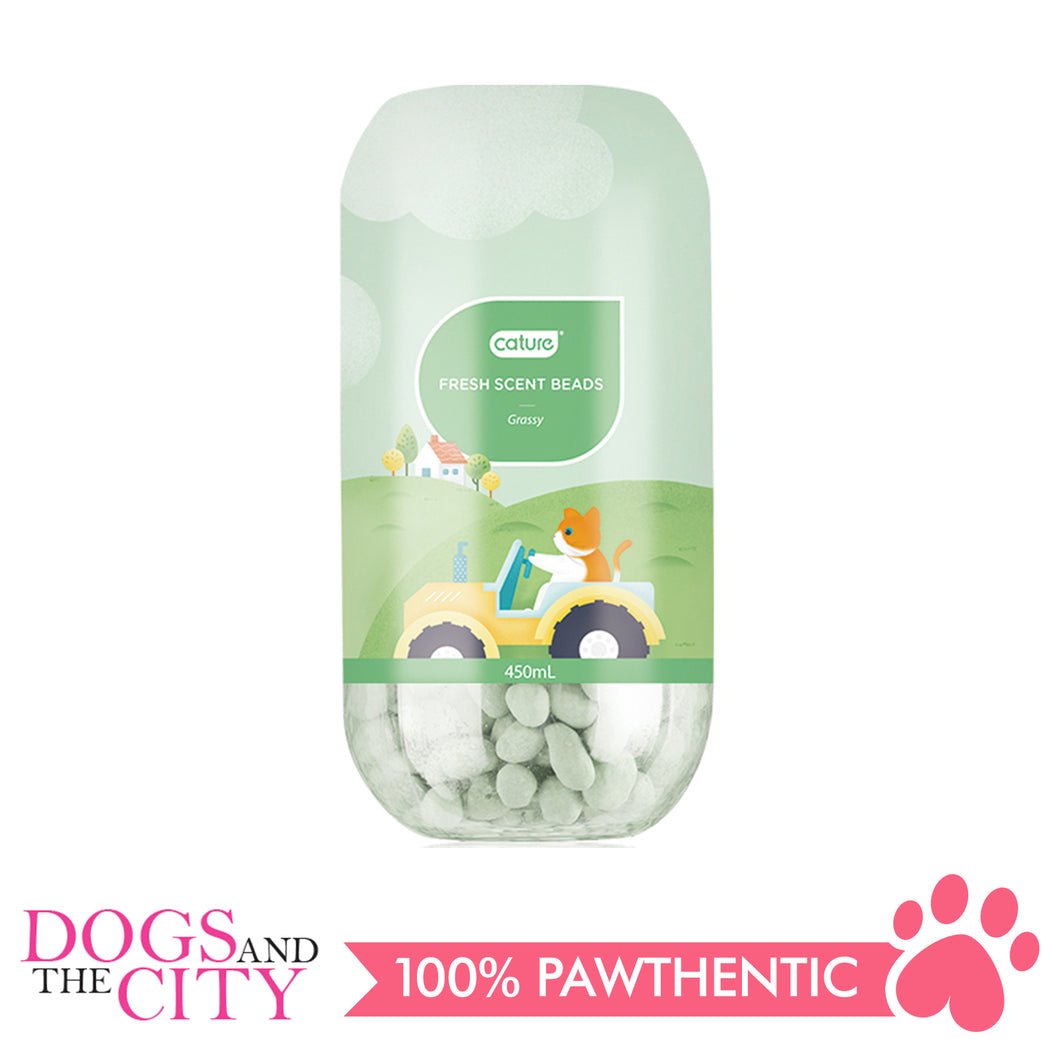 Cature Deodorizer Fresh Scent Beads Grassy 450 ml - All Goodies for Your Pet