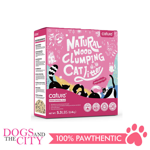 Cature Natural Wood Clumping Cat Litter Odor Control Plus 6L - All Goodies for Your Pet