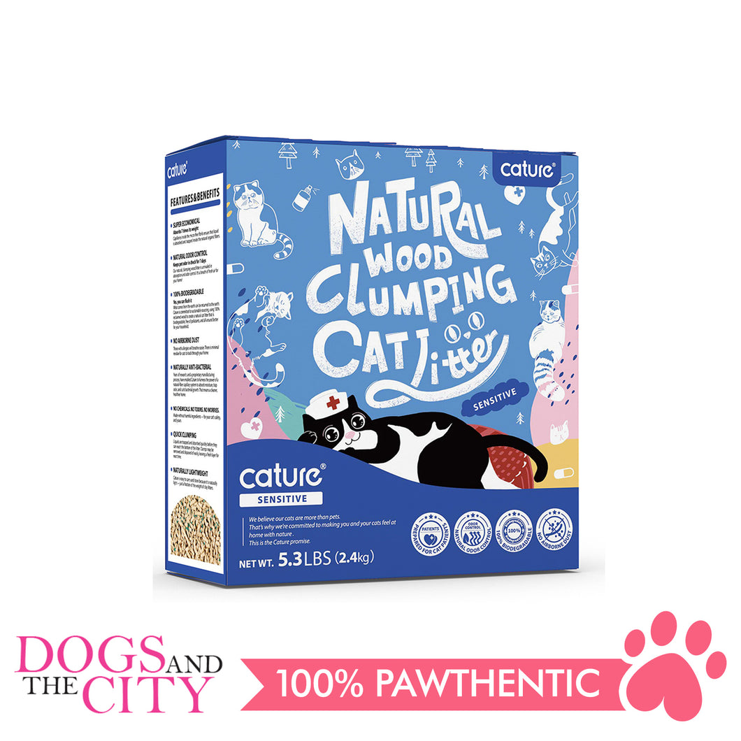 Cature Natural Wood Clumping Cat Litter Sensitive 6L - All Goodies for Your Pet