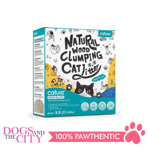 Cature Natural Wood Clumping Cat Litter Smart Pellet 6L - All Goodies for Your Pet