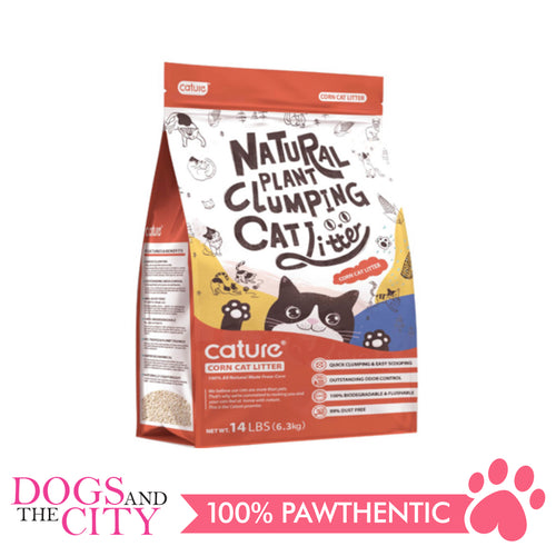 Cature Natural Wood Clumping Cracked Corn Cat Litter 10L - All Goodies for Your Pet