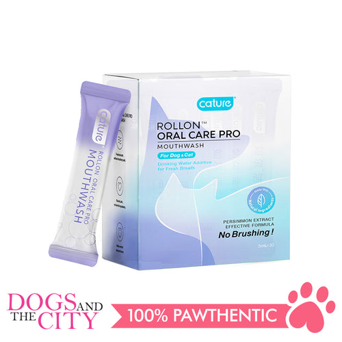 Cature Oral Care Pro Mouthwash For Dog and Cat 5ml (30 sachets) - Dogs And The City Online
