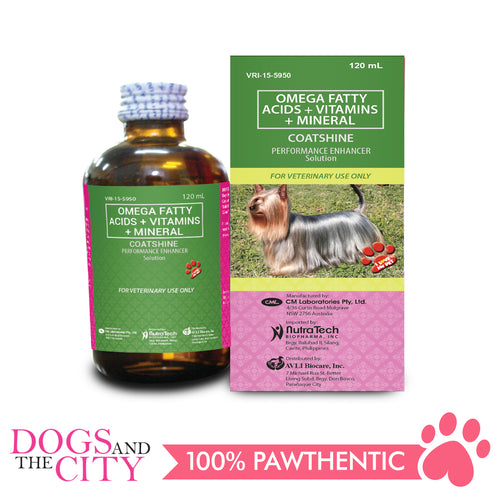 Coatshine Performance Enhancer Multivitamins 120ml - Dogs And The City Online