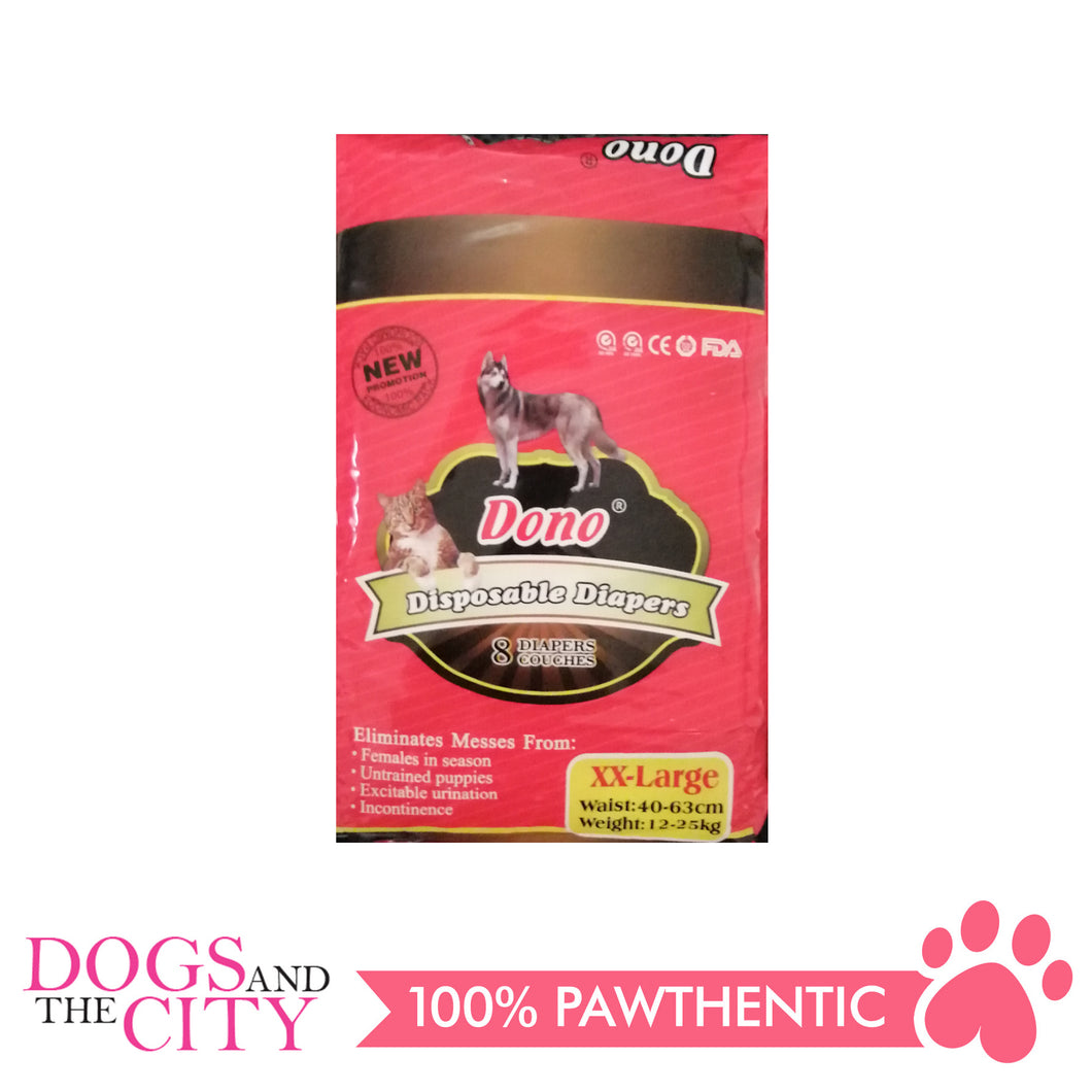 Dono Disposable Diaper XXL 8 pieces - All Goodies for Your Pet