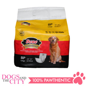 Dono Disposable Male Wraps LARGE 8'S - All Goodies for Your Pet