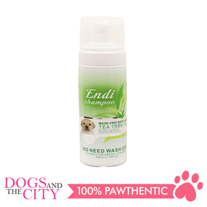 Endi Wash Free Shampoo Bath Foam Tea Tree Oil 220ml - All Goodies for Your Pet