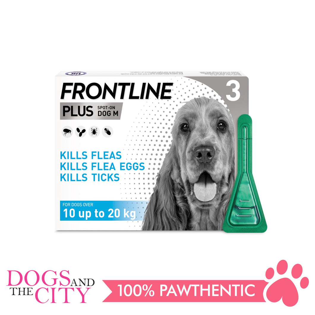 Frontline Plus Flea & Tick Spot On for Dogs 10-20kg - All Goodies for Your Pet