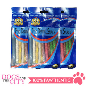 Pets Dental Snack GPP091919 Chancy Stick Multicolored 90g (3packs) - All Goodies for Your Pet