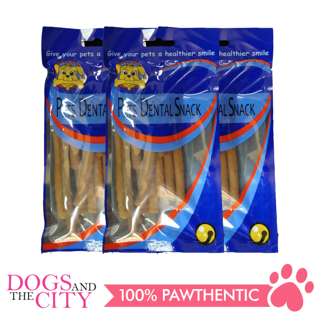 Pet Dental Snack GPP091921 Soft Stick Beef 11cm 80g (3packs) - All Goodies for Your Pet