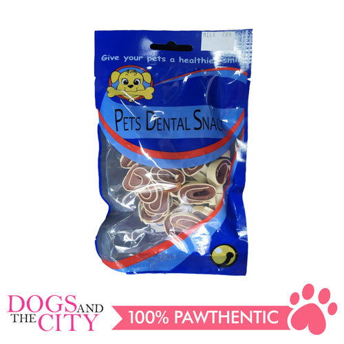 Pets Dental Snack GPP091924 Milk and Chicken 2cm 80G - All Goodies for Your Pet