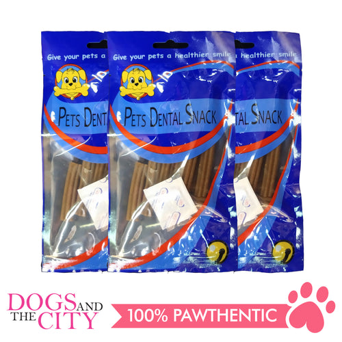 Pets Dental Snack GPP091928 Beef 5cm 65g (3packs) - All Goodies for Your Pet