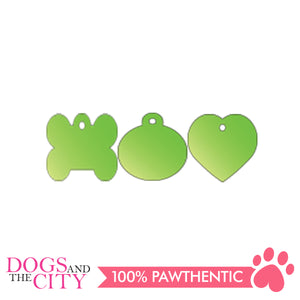 Personalized Pet Tags Heart Shape Small 25x25mm - All Goodies for Your Pet