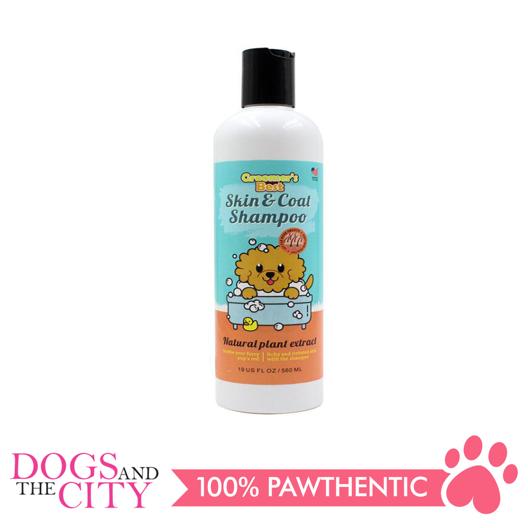 Groomer's Best Skin and Coat Shampoo 560ml - All Goodies for Your Pet
