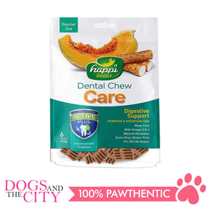 Happi Doggy Treat 2.5 Inches 150g Pumpkin and Mountain Yam Dog Dental Chew - All Goodies for Your Pet