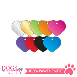 Personalized Pet Tags Heart Shape Large 38x33mm - All Goodies for Your Pet