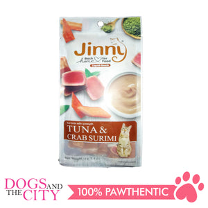 Jinny Liquid Tuna & Crab Surimi 14gx4 - All Goodies for Your Pet