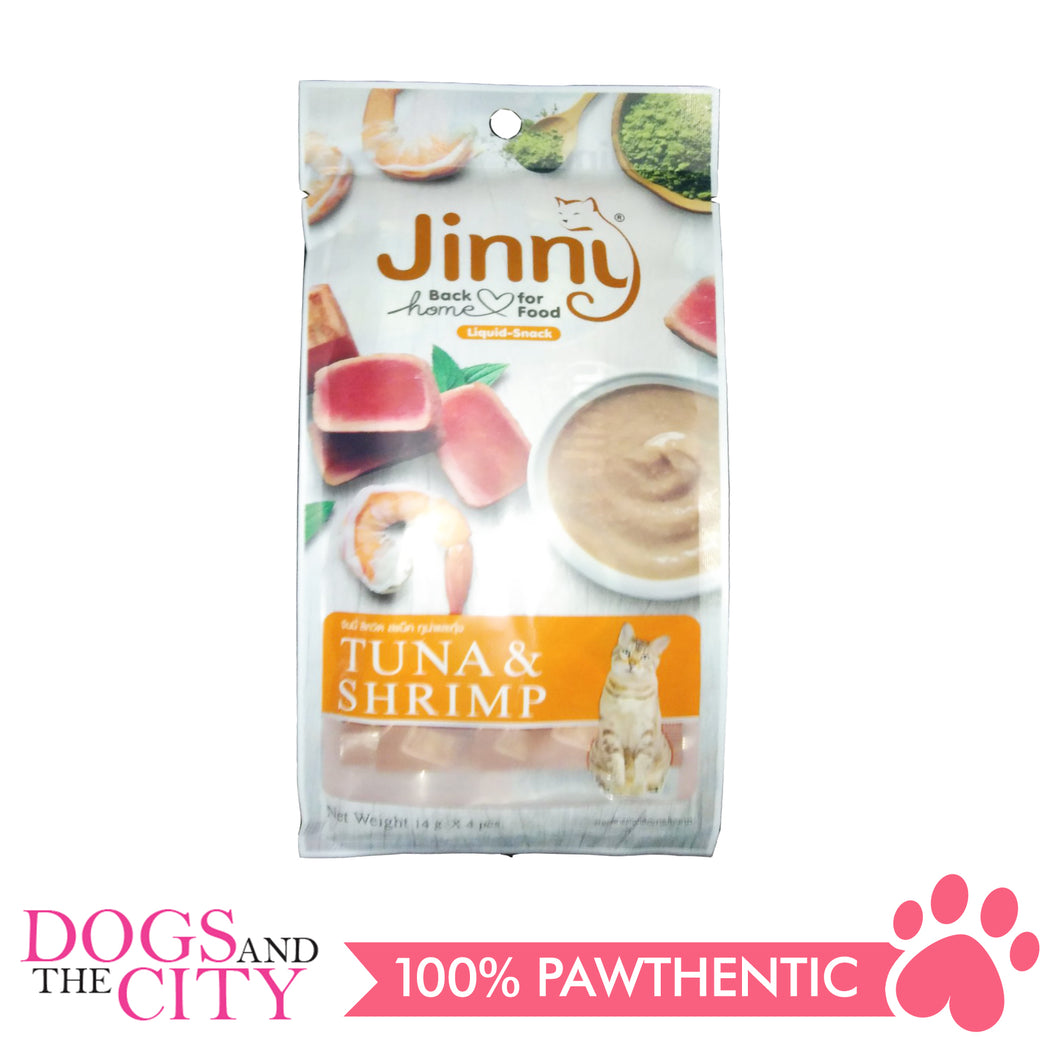 Jinny Liquid Tuna & Shrimp 14gx4 - All Goodies for Your Pet