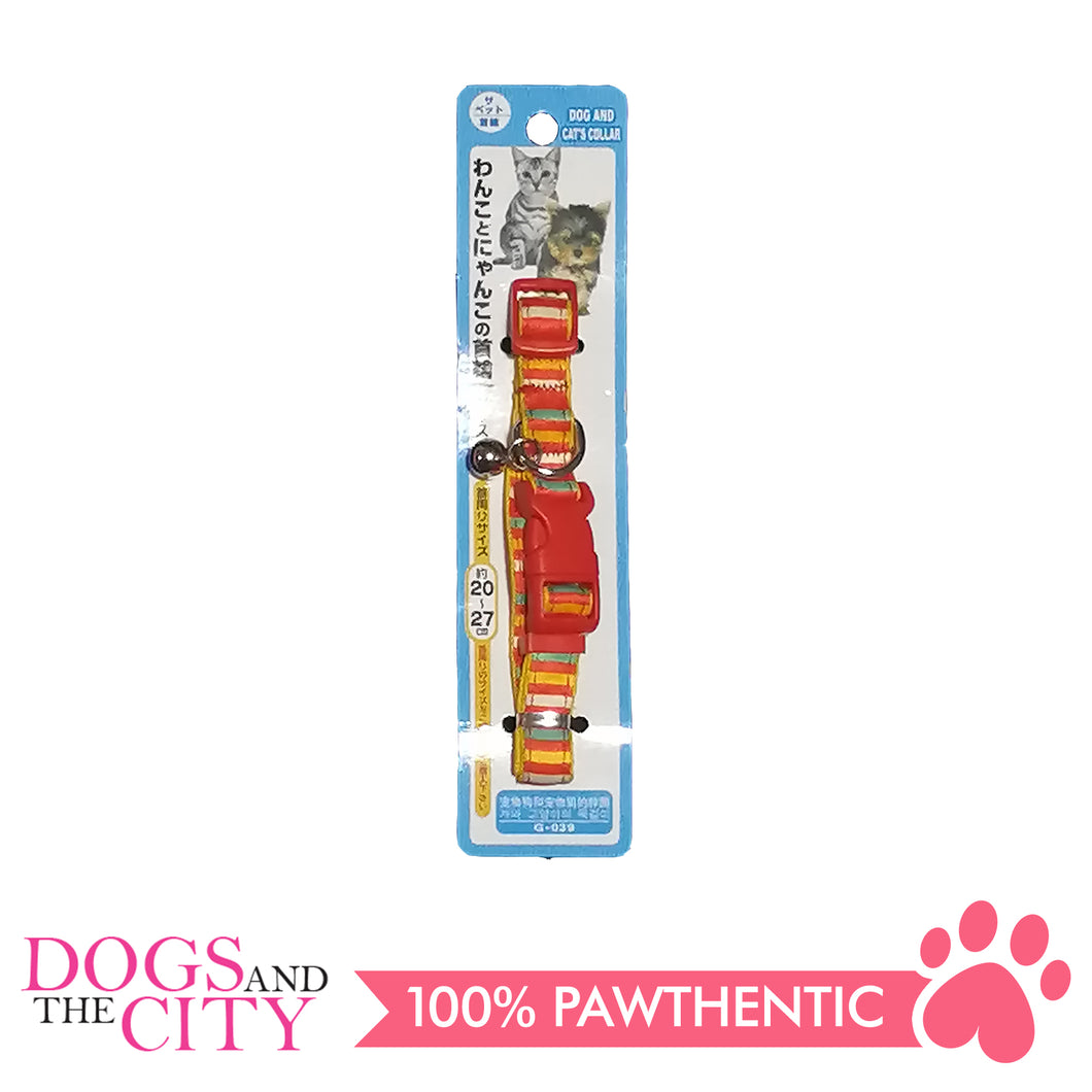 JX 1.5 cm Colorful Stripes Collar for Dogs