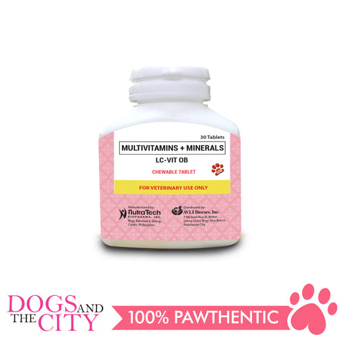 LC-VIT OB 30's Chewable Multivitamins + Minerals - All Goodies for Your Pet