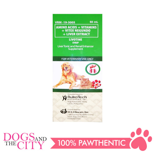 Nutratech Livotine Syrup Liver Supplement for Dogs 60ml - All Goodies for Your Pet