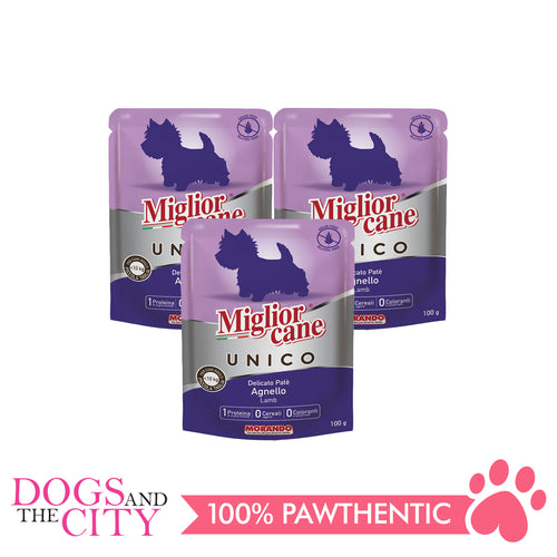 Morando Migliorcane Unico Lamb Pate Wet Dog Food 100g (3 packs) - All Goodies for Your Pet