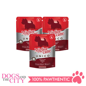 Morando Migliorcane Unico Veal Pate Wet Dog Food 100g (3 packs) - All Goodies for Your Pet