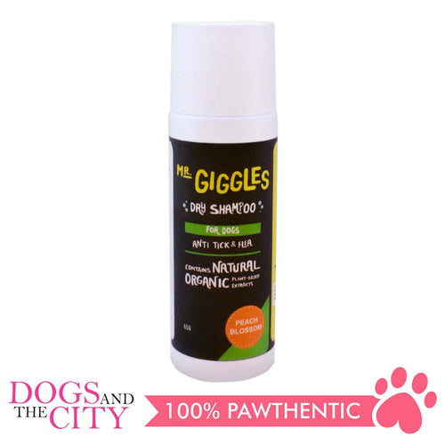 Mr. Giggles Dry Shampoo Peach Blossom 65g - All Goodies for Your Pet