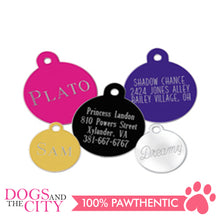Load image into Gallery viewer, Personalized Pet Tags Circle Shape Large 32x32mm - All Goodies for Your Pet