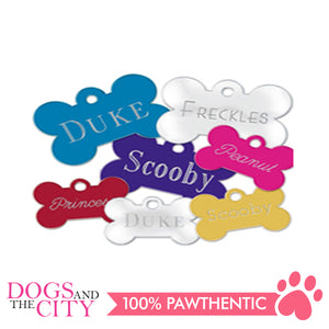 Personalized Pet Tags Bone Shape Large 38X27mm - All Goodies for Your Pet