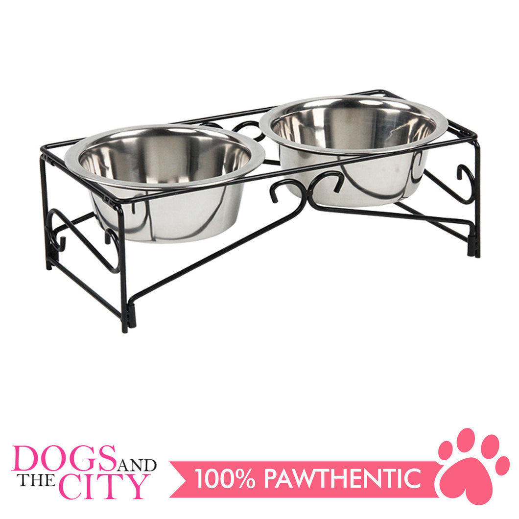 Pawise 11012 Double Diner Feeder 350ml for Dogs and Cats - All Goodies for Your Pet