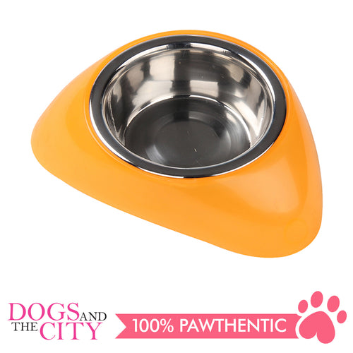 Pawise 11021 Stainless Steel Bowl with Plastic Stand S 350ML for Dogs and Cats - All Goodies for Your Pet