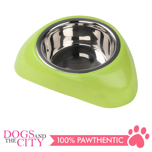 Pawise 11022 Stainless Steel Bowl with Plastic Stand Medium 750ml for Dogs and Cats - All Goodies for Your Pet