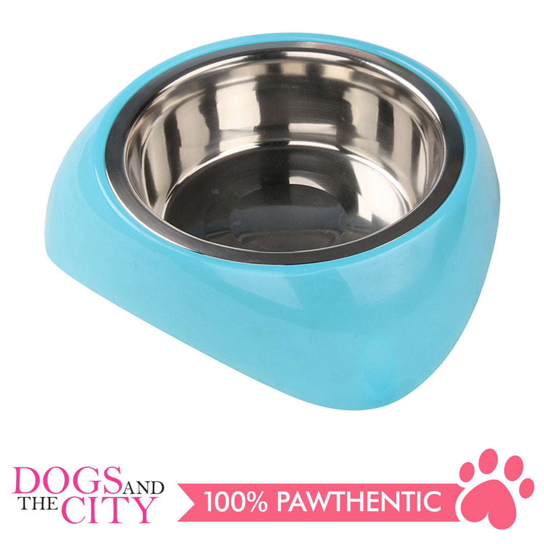 Pawise 11023 Stainless Steel Bowl with Plastic Stand Large 1750ml for Dogs and Cats - All Goodies for Your Pet