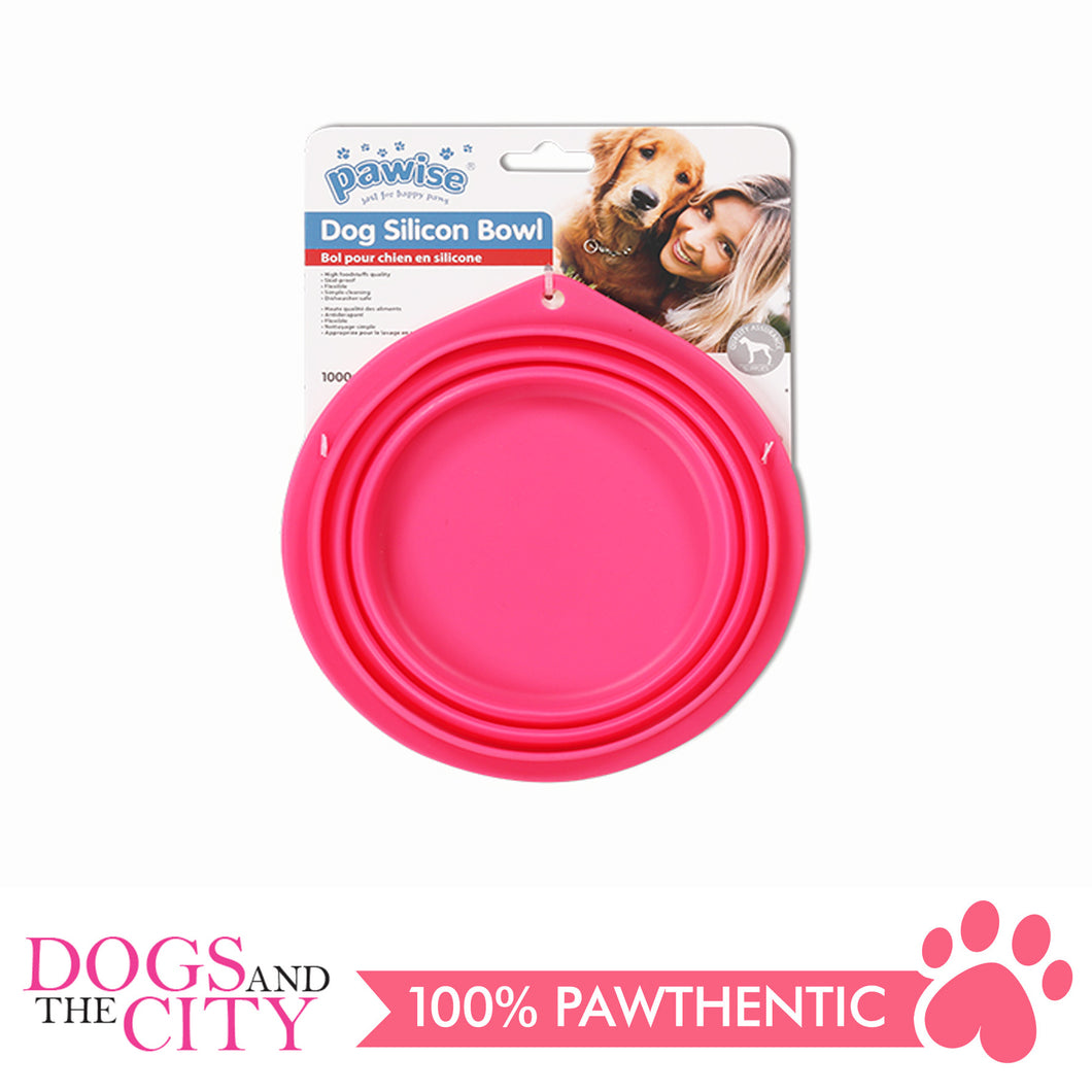 Pawise 11030 Collapsible Silicon Food & Water Travel Bowl for Dog and Cat 2000ml - All Goodies for Your Pet