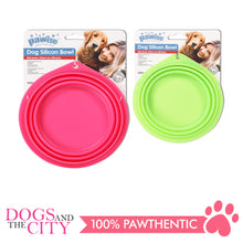 Load image into Gallery viewer, Pawise 11028 Collapsible Silicon Food & Water Travel Bowl for Dog and Cat 500ml - All Goodies for Your Pet