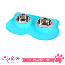 Load image into Gallery viewer, Pawise 11056 Double Pet Feeders 350ml 44x27x6cm - All Goodies for Your Pet