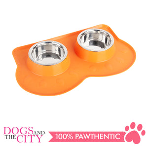 Pawise 11056 Double Pet Feeders 350ml 44x27x6cm - All Goodies for Your Pet