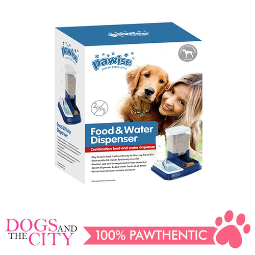 Pawise 11058 Pet Food & Water dispenser 30x40x20cm - All Goodies for Your Pet