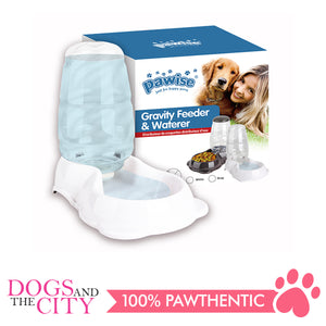 Pawise 11071 Gravity Flow Feeder and Water 2.8L for Dog and Cat - All Goodies for Your Pet
